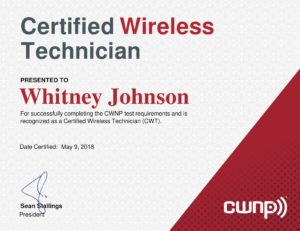 Certified Wireless Technician