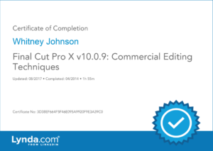 Final Cut Pro X Commercial Editing
